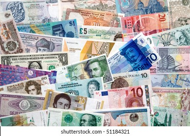 Banknotes from allover the world