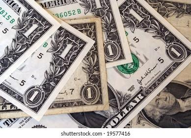 banknotes of american dollar
