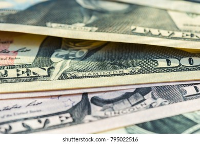 Banknotes of the American dollars