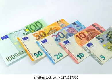 Banknotes of Euro Money. Euro cash background. Business concept
