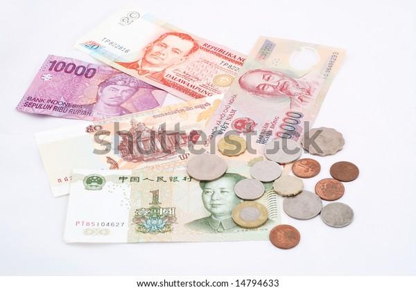 Banknotes Indonesia Philippines Vietnam China Cambodia Stock Photo Edit Now 14794633