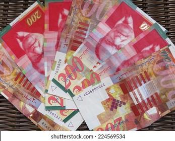 banknotes Israel - shekels 200.