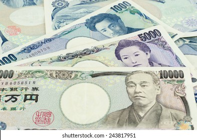 Banknotes of the Japanese yen, many price