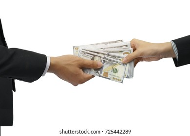 Banknotes - Payments, Concept of receiving money Or other business expenses.