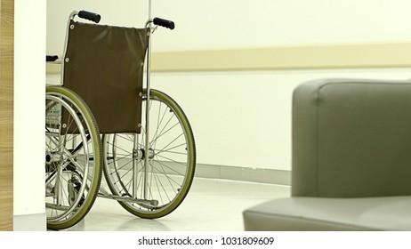 Bankok, Thailand , February 22, 2018 : The wheelchair in hospital on 02/22/2018