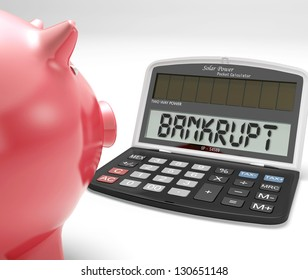 Bankrupt Calculator Showing No Finance Ability