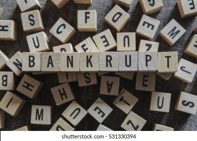 BANKRUPT word concept