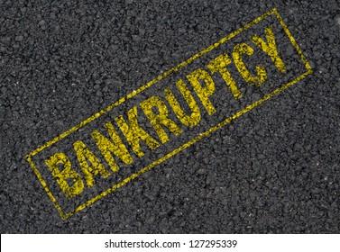 Bankruptcy sign background