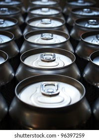Banks with beer. Abstract composition
