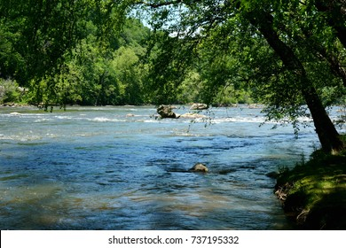 Banks of the French Broad River near Asheville North Carolina