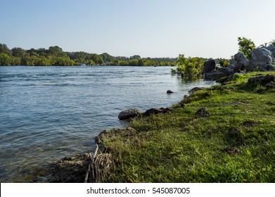 Banks of river Betwa as seen in Orchha, Madhya Pradesh, India.