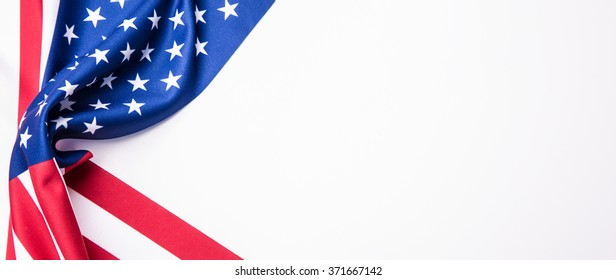 Banner with american  flag.