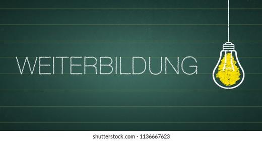 """Banner further education - German word """"Weiterbildung"""""""