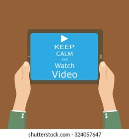 banner keep calm and watch videos