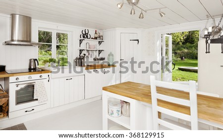 Banner Kitchen Interior Country Shabby Chic Stock Photo Edit Now