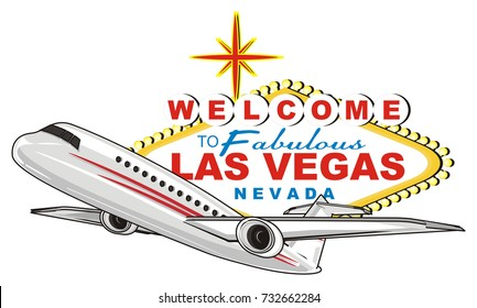 banner of las Vegas with plane