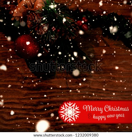 Banner Merry Christmas Against Copy Space Stock Photo Edit Now
