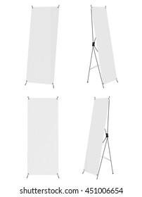 Banner mock up isolated on white background. Spider. 3D illustration.