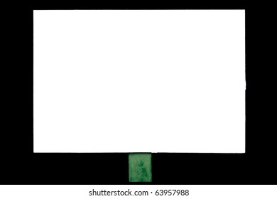 Banner on a white background isolated on black for the advertisement