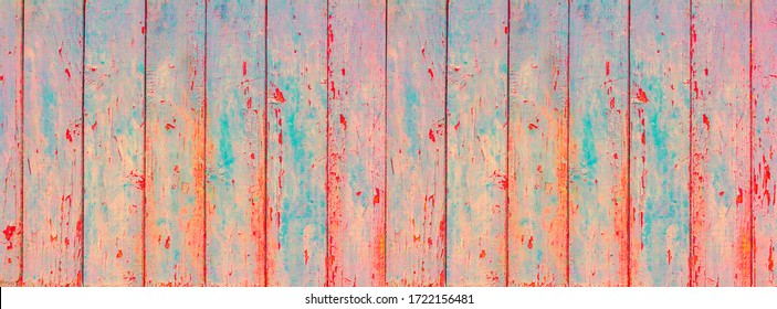 Banner wood panel is pale green color. Cracked paint on wooden background. Background for text or design. Copy space for text.