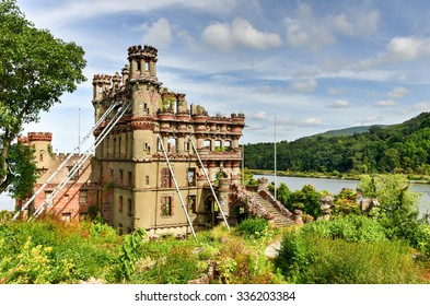 Bannerman Castle Armory on Pollepel Island in the Hudson River, New York.