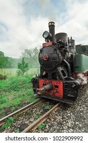Banovici,TK,Bosnia and Herzegovina,May 6 2017:Travel with steam locomotives