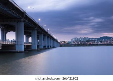 Banpo Bridge, Seoul, Soth Korea.
