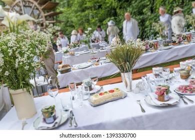 Banquet decoration. Food of summer.