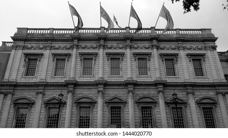 The Banqueting House Whitehall in London, UK in black and white