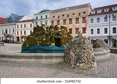 BANSKA BYSTRICA - April 13: Town square in Banska Bystrica, Slovakia on April 13, 2015. It is a city in central Slovakia with 78 327 inhabitants.