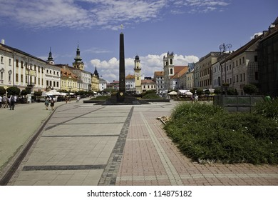 BANSKA BYSTRICA  - JULY 09: Town square in Banska Bystrica, Slovakia on July 09, 2012. It is a city in central Slovakia with 78 327 inhabitants.