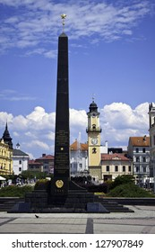 BANSKA BYSTRICA  -JULY 09: Town square in Banska Bystrica, Slovakia on July 09, 2012. It is a city in central Slovakia with 78 327 inhabitants.