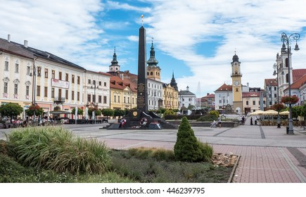 BANSKA BYSTRICA, SLOVAKIA - JULY 27: Square in the centre of town on July 27, 2015 in Banska Bystrica