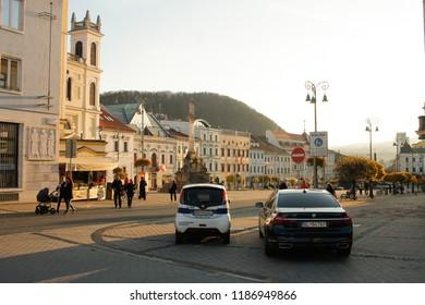 Banska Bystrica, Slovakia. November 4, 2017. Old town of Banska Bystrica, central Slovakia.