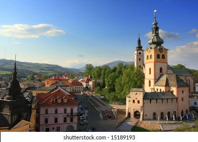 Banska Bystrica, Slovakia view from  leaning tower.