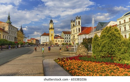 Banska Bystrica's main square, Slovakia