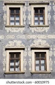Banska Stiavnica - facade of renaissance house