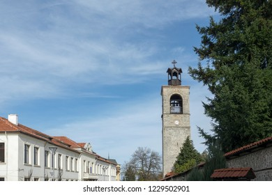 Bansko, Blagoevgrad / Bulgaria - November 1, 2018 - The Church of the Holy Trinity in city center
