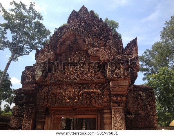 The Banteay Srei (srey) temple near Angkor, Cambodia