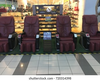 Banting, Selangor - 22 September 2017. Empty paid massage chair at Giant shopping mall in Banting.