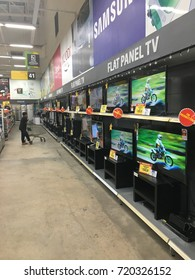 Banting, Selangor - 22 September 2017. Various type and brand of lcd tv on display in a shopping mall.