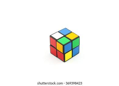 BANTING,MALAYSIA - January 30,2016: rubic cube