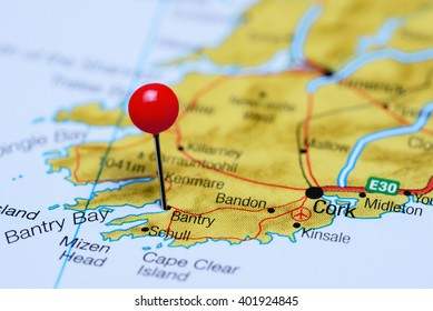 Kenmare Pinned On Map Ireland Stock Photo Edit Now 401924791