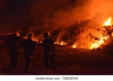Bantry,Ireland - April 26, 2017: Gorse fire in Ireland.