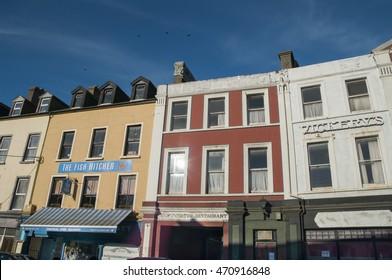 Bantry,Ireland - August 10, 2014: Main Street in Irish country town
