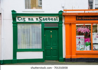 Bantry,Ireland - February 02, 2017: Shop front in Skibbereen, Ireland