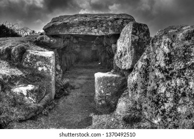 Bant's Carn, Ancient Burial Chamber, St Mary's, Isles of Scilly, UK
