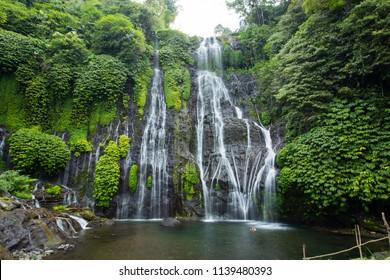 Banyumala waterfall in North Bali island, Indonesia