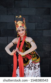 Banyuwangi, East Java / Indonesia - October 12, 2019 : staged pose of Gandrung Dancer.