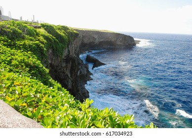 Banzai Cliff, Saipan Historical spot in Saipan as the site where thousands of Japanese soldiers and civilians jumped to their deaths rather than surrender to the US forces during the World War 11.